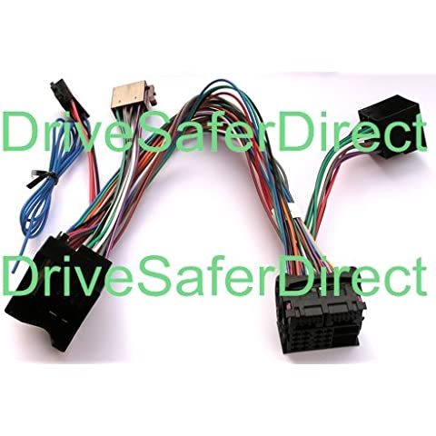 INKA-902884-04-3A ISO SOT Fully-Populated Mute Lead for Parrot CK3100, CK3200, MKi9100, MKi9200 and other ISO handsfree kits for vehicles: Holden Astra, Holden Captiva, Holden HSV, Saturn Astra, Vauxhall Agila, Vauxhall Antara, Vauxhall Astra, Vauxhall Combo by