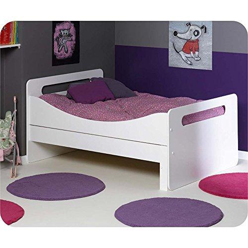 Paket Mitwachsendes Kinderbett Eden weiß mit Matratze und Schublade