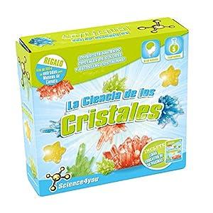 Science4you-489810 La Ciencia de los Cristales, Juguete científico y Educativo para niños +8 Años, Multicolor, Critales (489810)
