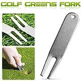 TUANMEIFADONGJI Golf-Divot-Werkzeuge Golf-Reparatur-Gabel gebogener Spucken-Golf grün Divot-Markierungs-Golf-Metallzusatz