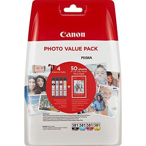 Canon 2106c004 - confezione di 4 cartucce d'inchiostro originali, colore: nero/giallo/magenta/ciano