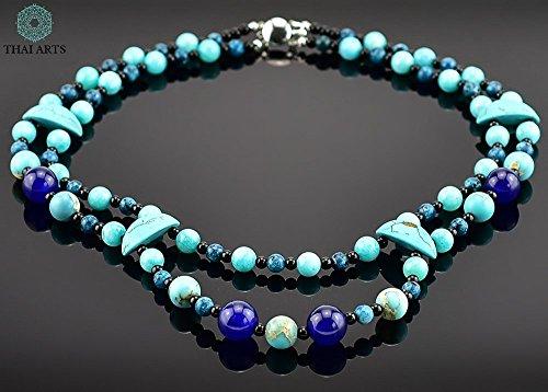 """Halskette """"Far S"""", Kette für Frauen (Korallenkette aus Handarbeit), exklusiver Schmuck mit Perlen für Frauen mit Stil. Handgefertigte Perlenkette aus Thailand"""
