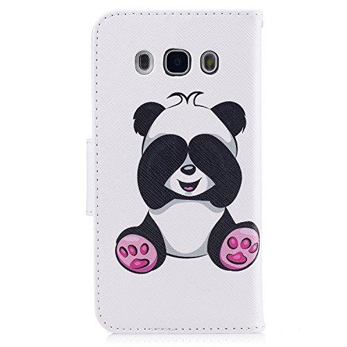 Samsung Galaxy J5 (2016) (5.2 pouce) Coque , PU Cuir Étui Protection Wallet Housse la Haute Qualité Pochette Anti-rayures Couverture Bumper Magnétique Antichoc Case Anfire Cover pour Samsung Galaxy J5 Panda