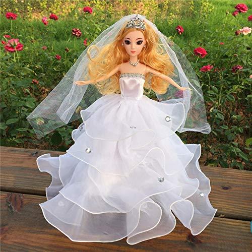 Kleine Mädchen Geburtstag Kleid (dryujdytru Einzigartig Kleines Mädchen Kinder Geburtstag Kleid Puppe 'S Hochzeit Braut Kleid Kleidung Kleid für Puppe - Weiß)