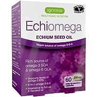 Echiomega vegetarische und vegane Omega 3-6-9, Echium Samen Öl, 60 Kapseln