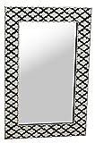 Orient Spiegel Wandspiegel Dinara 90cm groß | Großer Marokkanischer Flurspiegel mit Holzrahmen orientalisch handbemalt | Orientalischer Vintage Badspiegel ohne Beleuchtung als Orientalische Deko