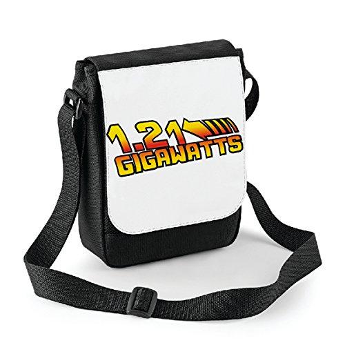 Mini borsa a tracolla Ritorno al futuro 1.21 gigawatts - back to future Bianco