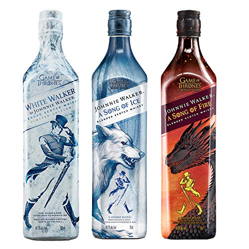 Johnnie Walker Song of Fire + Johnnie Walker Song of Ice + Johnnie Walker White Walker Edizione Limitata Blended Scotch Whisky Game of Thrones: 3 x 700 ml