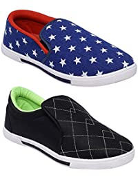 Scantron Casual Canvas Shoes Men's Combo 2 Shoes Casual Shoes With Stylish Look New Latest Fashionable Trail Casual...