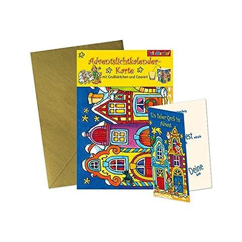 * Adventslichtkalender-Karte * mit Grusskarte und Umschlag // von Lutz