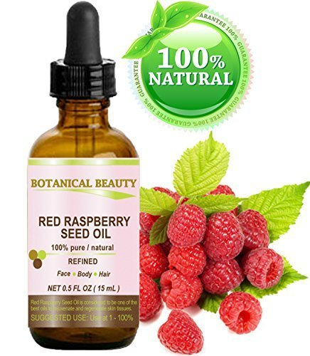 Red Raspberry Seed Oil. 100% Pure / Natural / Undiluted / Refined Cold Pressed Carrier Oil. 0.5 Fl.oz.-15 ml. For Skin, Hair, Lip And Nail Care. by Botanical Beauty.