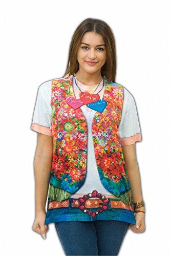 Zoelibat - Damen T-Shirt Hippie Girl - Kurzarm - Gr. (Child Kostüme Love Erwachsene Shirt)