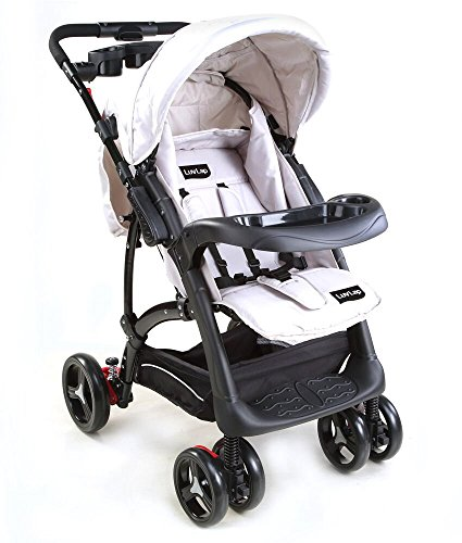LuvLap Baby Stroller Pram Sports (Gray/Black)