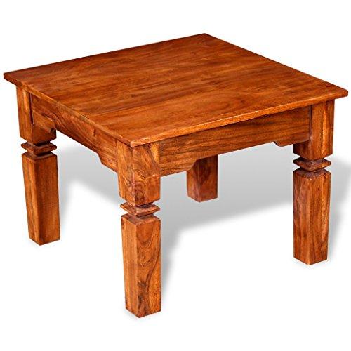 Festnight Massivholz Couchtisch Kaffeetisch Holztisch 60 x 60 x 45 cm als Beistelltisch Seitentisch und Wohnzimmertisch