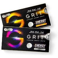 GRIT® Supreme Energy Drops - der Energy Drink zum Lutschen - Koffein, Taurin, Vitamin B6 & B12 als Booster - 5 min bis zum Power Kick - zuckerfrei Original + Kumquat 20 Drops
