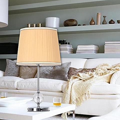 YM@YG Tabella semplice lampada moderna cristallo tavolo lampada camera soggiorno