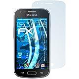 3 x atFoliX Lámina Protectora de Pantalla Samsung Galaxy Trend Plus (GT-S7580) Película Protectora - FX-Clear ultra transparente