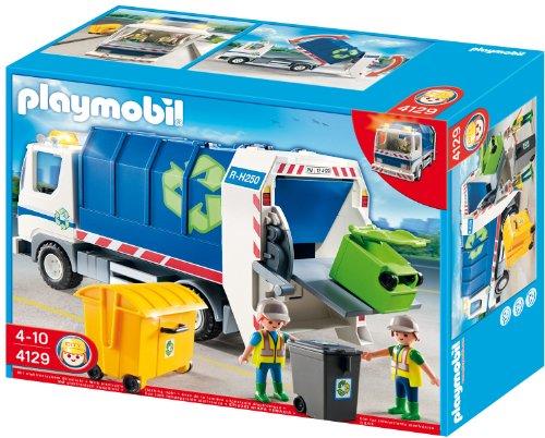 Playmobil 4129 - Recycling-Fahrzeug mit Blinklicht - Müllabfuhr