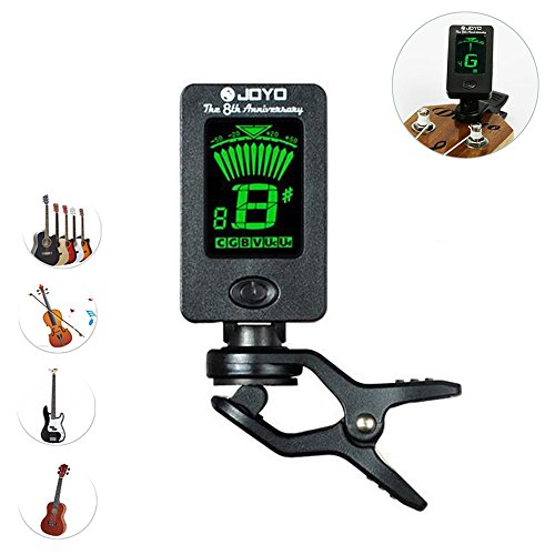 yakamoz-lcd-clip-on-tuner-for-acoustic-electric-guitar-bass-violin-ukulele360-degree-rotational-elec