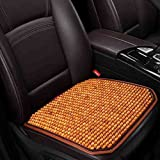 XIAOYA Funda Asiento Coche Wood Bead Seat Cover Massage Transpirable Auto Cojín Asiento Cuatro Estaciones Universal,B
