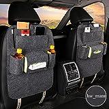 Hw_Mann Filz Rückenlehnenschutz Sitzschoner Lehnenschutz Hecksitzschoner Auto Organizer Utensilientasche mit