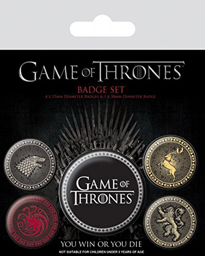 Game Of Thrones Ansteck Buttons Great Houses [Edizione: Germania]
