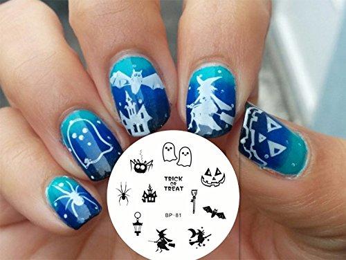 Nail Art Stamping Bild Metal Platte Nail Art Design Muster Vorlage Halloween - AP81 - FashionLife