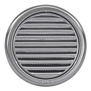 Gitter für Lüftungssystem, Durchmesser 125mm (12,7cm, rund, Edelstahl)