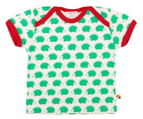 Loud + Proud Unisex - Baby T-Shirts Tierdruck 204, Grün (verde ve), 122/128 (Blusen 2014)
