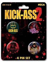Kick Ass 2 Character Art 4 Pin Set