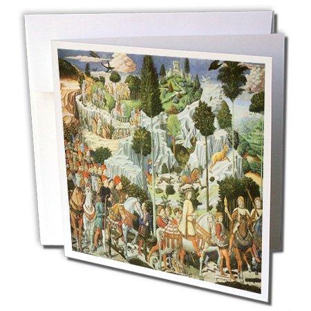 Der Prozession of King Caspar von Benozzo Gozzoli–Grußkarten, 15,2x 15,2cm, Set 6(GC 127070_ 1)