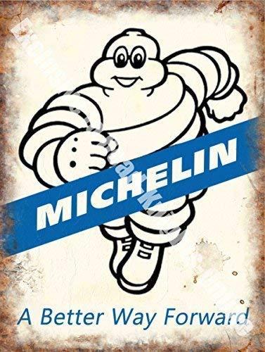 RKO Michelin 171, Una Better Way avanti, Pneumatici Tires, Vintage Garage Auto, Corsa Gomma Uomo, Metallo/Insegna in Acciaio - 20 x 30 cm