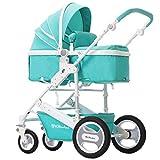 Cochecito de bebé cochecito de jardín alto puede sentarse acostado plegable de dos vías de cuatro ruedas amortiguador carro de bebé