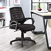 SEAT CHACHA® 898 mesh Back Home Office revolving Chair with tillting Mechanism (Standard, Black)