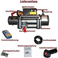 Jws - Cabrestante eléctrico 5900kg 12 voltios