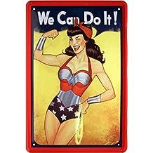Sexy Pin Up Girl WE CAN DO IT Cartel de chapa 20x 30cm retro Chapa 142