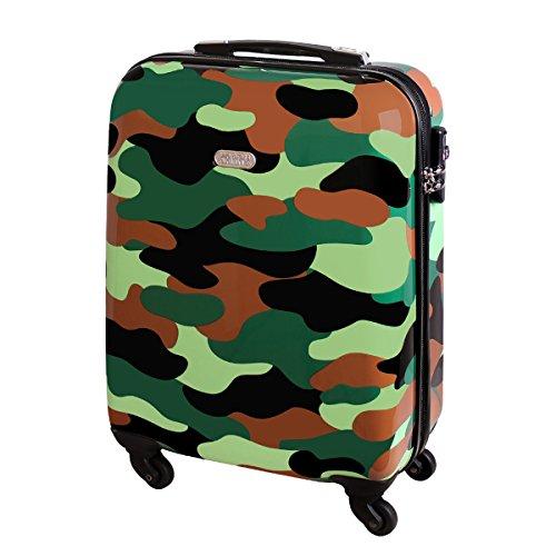 Hartschalen Reise Koffer Trolley Bordgepäck Kurzurlaub Handgepäck Reise Koffer 30 Liter Dschungel Camouflage 820