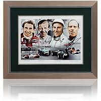 British Motorsport Formula One F1Legends Hand signiert von 4