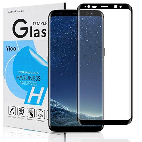 Galaxy S8 Plus Protector de Pantalla, Yica Protector de Pantalla para Samsung Galaxy S8 Plus HD Vidrio Templado Protector de Pantalla [Anti-rasguños] [Libre de burbujas] de Cristal Vidrio Templado de Protector de Pantalla para Samsung Galaxy S8 Plus-Black