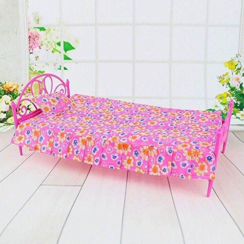 Vanker Spielzeug Möbel Gartenmöbel aus Kunststoff exquisiten Bettwäsche für Munecas Barbie