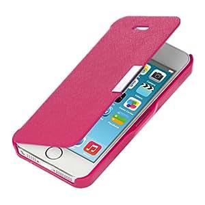 kwmobile Flip Case Hülle für > Apple iPhone SE / 5 / 5S < - Aufklappbare Schutzhülle Tasche im Flip Cover Style in Pink