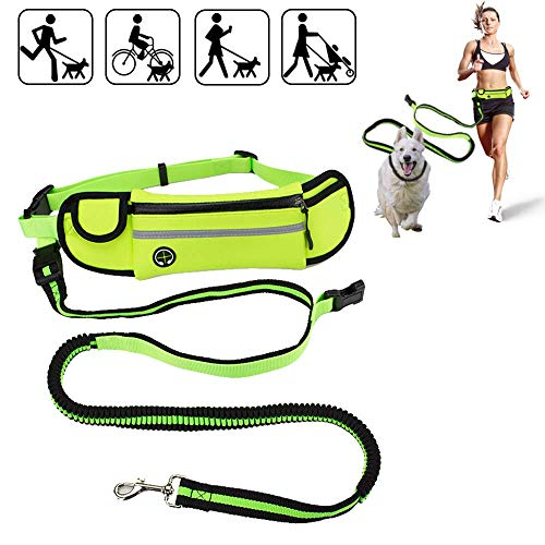 YANGKEE Hands Free Dog Leash Gifts for Dog Lovers Running Belt for Phone Dog Leashes for Large Dogs up to 110 lbs Hands Free Leash for Small Dogs Durable Bungee Dog Leash Strong Dog Running Leash