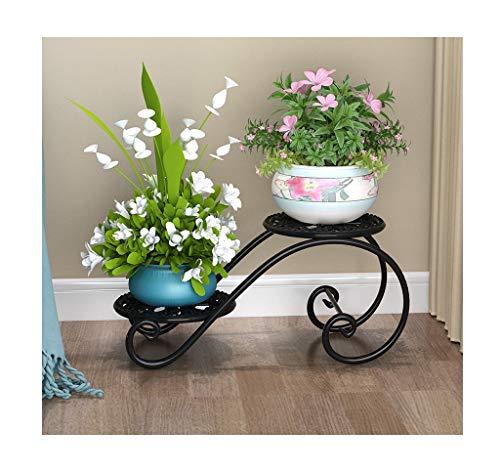Hyvaluable Stand de Fleur de Fer Plante Pot de Fleur Stands Maison Jardin Patio décor présentoir Porte bonsaï (Couleur : Noir)