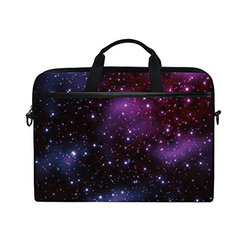 Ahomy 14-15.4 Zoll Laptoptasche Galaxy Stars Space Starry Universe Night Sky Canvas Stoff Laptop Tasche Bussiness Handtasche mit Schultergurt für Damen und Herren - Star Canvas-tasche
