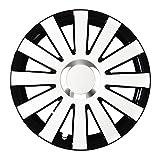 (Farbe und Größe wählbar!) 13 Zoll Radkappen ONYX (Schwarz-Weiß) passend für fast alle Fahrzeugtypen (universell) - vom Radkappen König
