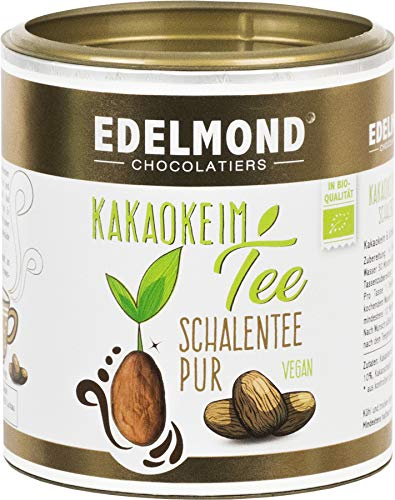 Edelmond Bio Kakaokeim Tee. Lose für Teesieb. 180 g. Teedose purer Kakaotee