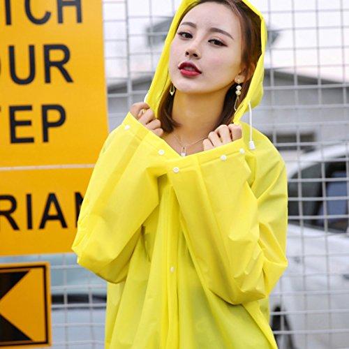 Voyage imperméable transparent femme adulte masculin poncho extérieur mâle ( Couleur : Le jaune , taille : S ) Le jaune