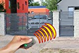 SO32 Einfahrtstor Hoftor Doppelflügeltor Gartentor Berlin 350 x 150 cm, mit Pforte 94 cm, elektr. Antrieb und Riegelset, Komplett-Set inklusive 2 Torflügeln, 1 Pforte, 3 Natursteinoptik-Pfosten, Beschlägen, 1 elektr. Antrieb mit 1 Fernbedienung und 1 Riegelset. Gesamtbreite ist ca.571 cm