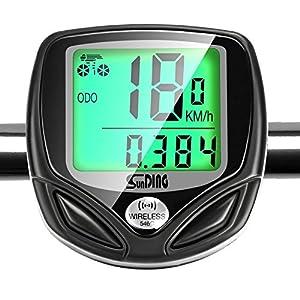 Velocímetro para Bicicleta, GiBot Ciclocomputador Bicicleta, Inalámbrico Bicicleta Cuentakilometros, Ciclocomputador Ordenador Digita Para Ciclismo con 16 Funciones, inalámbrica, impermeable y Pantalla de luz de fondo LCD, Negro