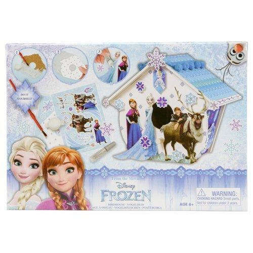 nichoir maison pour oiseaux reine des neiges frozen elsa anna kristoff sven le renne olaf . cadeau de noel loisirs créatifs